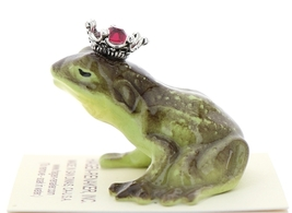 Hagen-Renaker Miniature Frog Prince Kissing Birthstone 01 January Garnet image 4