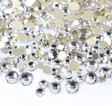450 pcs 2mm - 6mm Resin clear crystal round Rhinestones Flatback Mix SIZ... - $6.29