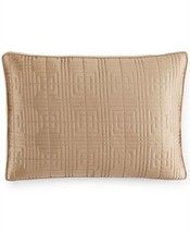 Hotel Collection Savoy Standard Pillow Sham Tan Quilted - $24.74