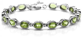 14.24ct. Natural Peridot White Gold Plated 925 Sterling Silver Bezel Set... - $258.63