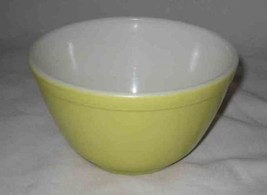 "Neat 3 1/2"" Yellow PYREX Bowl #36 #401 1.5 Pint - $33.69"