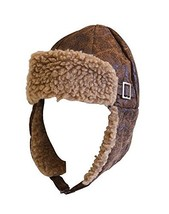 Aviator Pilot Cap Adult Hat Brown with Buckle - €14,90 EUR