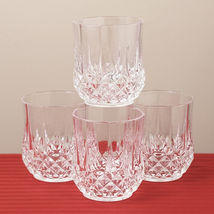 Longchamp Cristal  D'Arques  Old Fashion  Whisky  Water Juice Glass Set Of  4 - $41.57