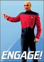 Star Trek: The Next Generation Engage! Captain Picard Magnet, NEW UNUSED - $3.99
