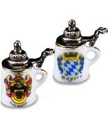 German Beer Stein Pair 1.803/5 Reutter Porcelain Dollhouse Miniature - $16.89