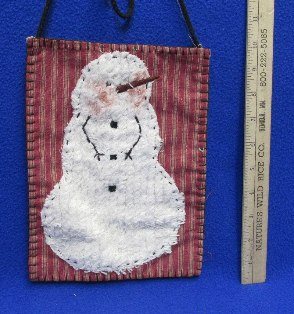 Primitive Winter Snowman Christmas Holiday Decor Bottle Bird Houses Pocket Stake
