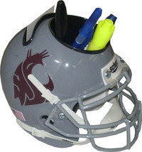 Washington State Cougars (Gray) NCAA Football Schutt Mini Helmet Desk Caddy - $21.95