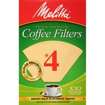 Melitta 624602 #4 8 To 12 Cup Natural Brown Cone Coffee Filters 100 Count - $10.36