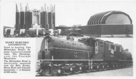 Electric Locomotive Olympia CM&StP Railroad Chicago Worlds Fair 1933 pos... - $5.89