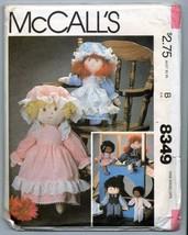 "Vtg Cloth Prairie Rag Soft Boy & Girl Doll Pattern 17"" 13"" UNCUT Clothes... - $13.55"