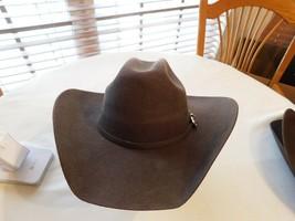 Montecarlo Bullhide KINGMAN 4X Wool Felt Western Cowboy Hat Chocolate 60... - $43.55