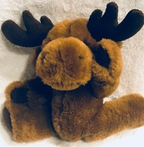 """Poseable Brown Moose Plush 12"""" fully posable! Adorable Little Moose plus... - $16.33"""