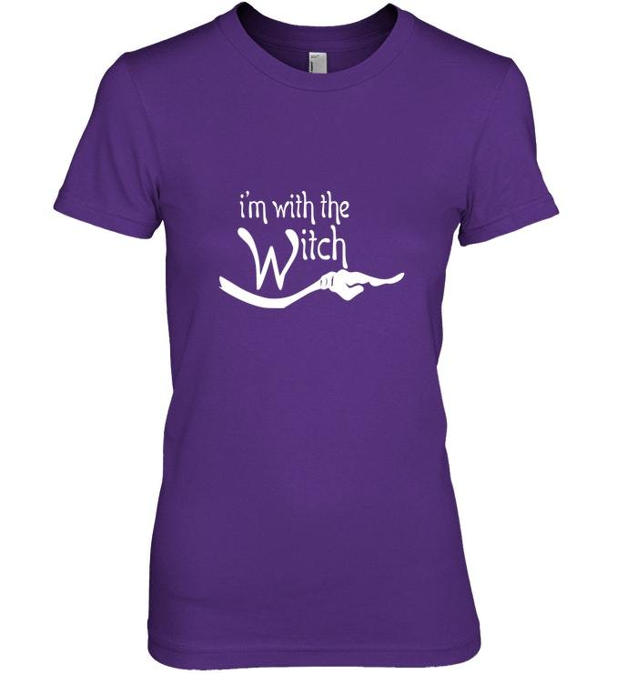 Funny Im with the Witch Halloween Costume Tshirt