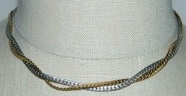 Vintage AVON Gold Silver Toned Twist Choker Necklace - $19.80