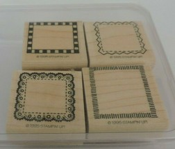 Stampin Up Around & About Borders Mini Mounted Stamp Set Picture Frames ... - $9.00