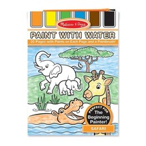 Melissa Doug Paint With Water Activity Book - Safari (20 Pages) - $26.98