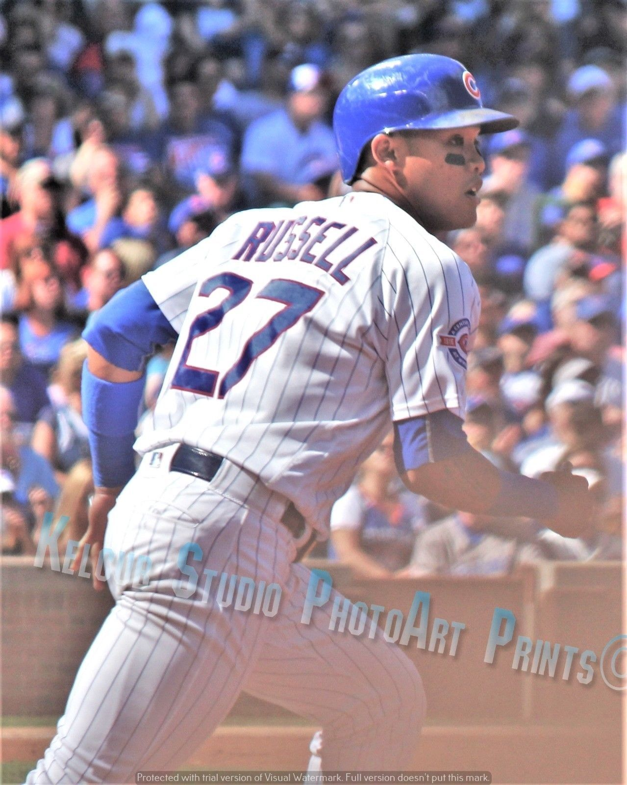 Primary image for Chicago Cubs Addison Russell Original Game Action Pic Various Sizes PhotoArt