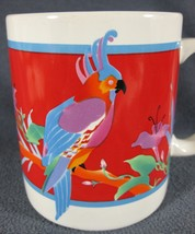Otagiri Cockatoo Parrot Tropical Bird Ceramic Coffee Mug 12oz Angela Ack... - €12,70 EUR
