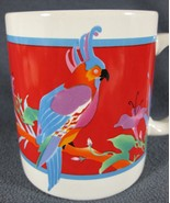 Otagiri Cockatoo Parrot Tropical Bird Ceramic Coffee Mug 12oz Angela Ackerman - $14.99