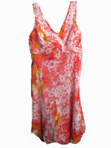 Adrianna Papell Sleeveless Print Silk Dress Size 14W Brand New With Tags! - $59.35