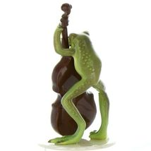 Hagen Renaker Frog Froggy Mountain Breakdown Double Bass Ceramic Figurine image 3