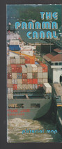 Panama Canal Pictorial Map 1993 Panama Canal Commission - $14.03