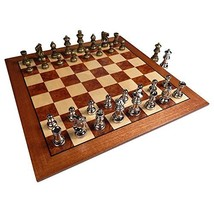 Hayes Inlaid Maple, Mahogany, and Sapele Wood Chess Board with 2.5 Inch ... - $90.11