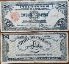 2 PHILIPPINE 2 Peso WWII Dansalan Lanao Mindanao Treasury Emergency Cert... - $14.95