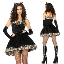 Halloween Lovely Black Leopard Catwoman Cosplay Costume - $29.61