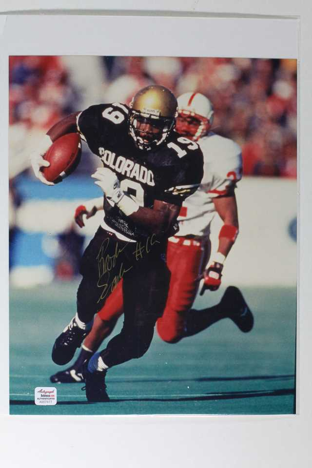 Primary image for Rashaan Salaam Signed Autographed Glossy 8x10 Photo - Colorado Buffaloes