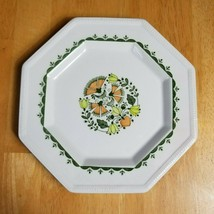 Lot of 2 Johnson Brothers Greenfield Bread & Butter Plates White Orange Mosaic - $4.94