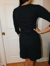 AMERICAN APPAREL Women's Black Wrap Dress Size US XS image 4