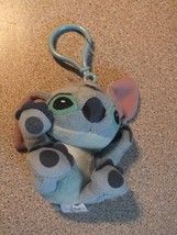 Disneyland Paris Soft Toy Blue Stitch Bag Charm Baby Mobile with clip - $5.20