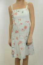2 Ann Taylor Light Blue/Coral Pink Linen Floral Tank Shift Dress Spring/... - $49.49