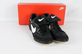 Vintage 90s Nike 12.5 Tiempo Classic Turnschuhe Fußballschuhe Schwarz - $107.73