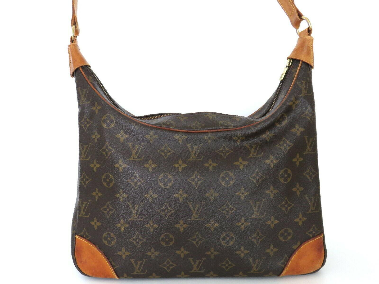 Authentic LOUIS VUITTON Monogram Canvas Leather Boulogne 35 Shoulder Bag image 2