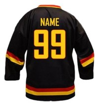 Any Name Number Team Germany Men Sewn Hockey Jersey Black Any Size image 5