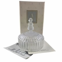 1993 Avon Hummel Collectible Crystal Trinket Box With Girl Figure In Original Bo - $16.66