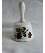 Vintage Hammersley & Co Bone China England Large Bell Vivid Color Flowers - $30.14