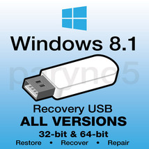 *WINDOWS 8.1 HOME Recovery Install Reinstall Restore USB Flash Drive - $13.99
