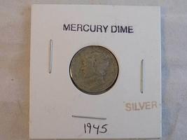 MERCURY DIME 1945 SILVER Dime - $4.95