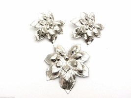 Signed Sarah Coventry Silvery Maple Brooch Ears Silver 1960 Vintage Book... - £27.75 GBP