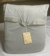Restoration Hardware Vintage-Washed Jersey Duvet Cover Cotton Twin Fog N... - $89.99