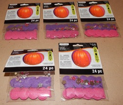 Halloween Craft Kits Creatology 5pks Gems & Felt Shapes For Pumpkins120p... - $12.49