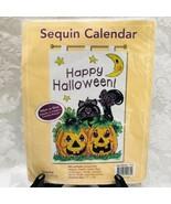 Sunrise Craft Hobby Sequin Calendar Happy Halloween Banner Felt Craft Kit - $29.65