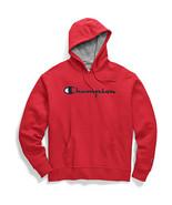 Champion Men's Powerblend Fleece Pullover Hoodie, Team Red Scarlet, Large - $39.59