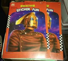 Rocketeer sticker book 1980s disney whitman - $19.99