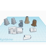 IA Base Game Forest Map Terrain & Obstacles 3D Printer STL File - $7.00