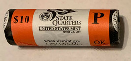 2008 P Oklahoma State Quarter Roll Original US Mint wrapping 40 Coins CP... - $23.95