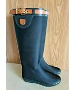 Dav Tall Black Waterproof Rain Boots Women Size 9 - Run Small Fits Like ... - $49.49